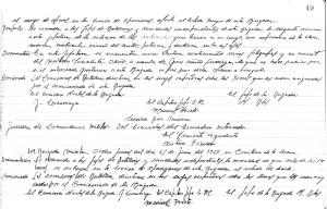 Documentación: hoja de registro con las órdenes generales de la 109ª Brigada Mixta, para el día 25 de junio de 1937.