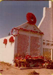 Panteón del cementerio municipal de Casas de Don Pedro donde reposan los restos. Mayo de 1978.